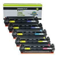 GREENCYCLE Compatible Toner Cartridge Replacement for HP CF400A CF401A CF402A CF403A 201A Used in Laserjet Pro MFP M277dw M252dw M277c6 M277n M252n M252 with Chip (2 Black,1 Cyan,1 Yellow,1 Magenta)