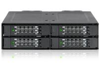 "ICY DOCK ToughArmor Rugged Full Metal 4 Bay 2.5"" NVMe U.2 SSD Mobile Rack for External 5.25"" Bay - MB699VP-B"
