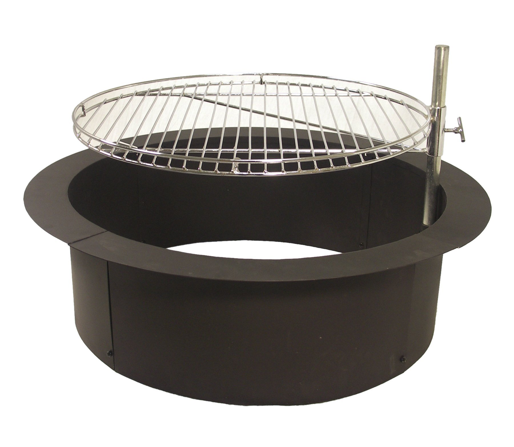 """Catalina Creations 32"""" Heavy Duty Fire Ring   Gourmet Cooking Grate   Fire Pit BBQ Grill   Fire Ring"""