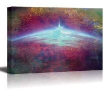 wall26 - A Light on The Horizon in an Abstract Painting - Canvas Art Home Decor - 32x48 inches