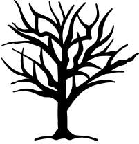 hBARSCI Tree Silhouette Vinyl Decal - 5 Inches - for Cars, Trucks, Windows, Laptops, Tablets, Outdoor-Grade 2.5mil Thick Vinyl - Black