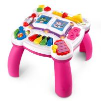 LeapFrog Learn & Groove Musical Table (Frustration Free Packaging), Pink, Great Gift for Kids, Toddlers, Toy for Boys and Girls, Ages Infant, 1, 2, 3