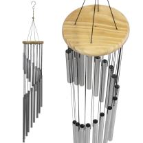 Sorbus Wind Chimes – Tubular Decorative Outdoor Garden Accent with Soothing Musical Bell Sounds – Great for Memorial, Home, Deck, Patio, or Garden, Metal