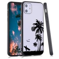 LuGeKe Palm Leaf Phone Case for iPhone XR,Coconut Tree Patterned Case Cover,Hard PC Back with TPU BumperAnti-Stratch Bumper Protective Cute Boys Phonecase(Summer Beach)
