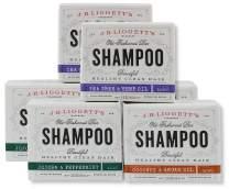 J.R.LIGGETT'S Old Fashioned Shampoo Bar, 2 Of Each Flavor, Coconut, 21 Ounce