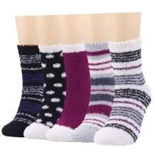 Fuzzy Socks for Women Fluffy Cozy Warm Soft Plush Slipper Socks for Sleeping Girls Comfy Holiday Socks Winter…