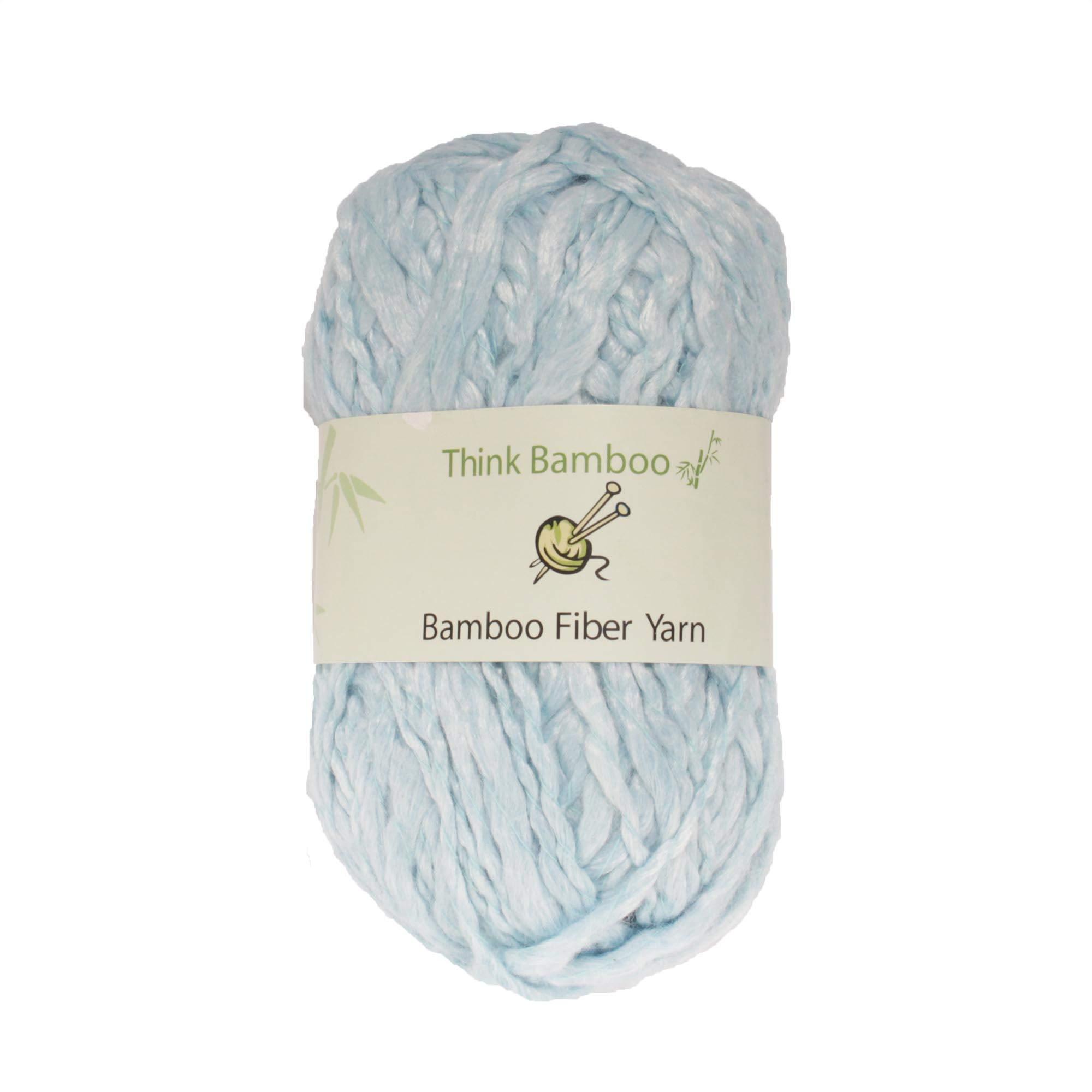 BambooMN Brand - Cotton Candy Blue Thick Thin Bamboo Fiber Wool Yarn - 100g/Skein - 2 Skeins