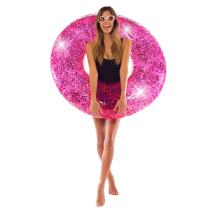 Pool Candy Pink Confetti Holographic Glitter Giant Pool Tube Float
