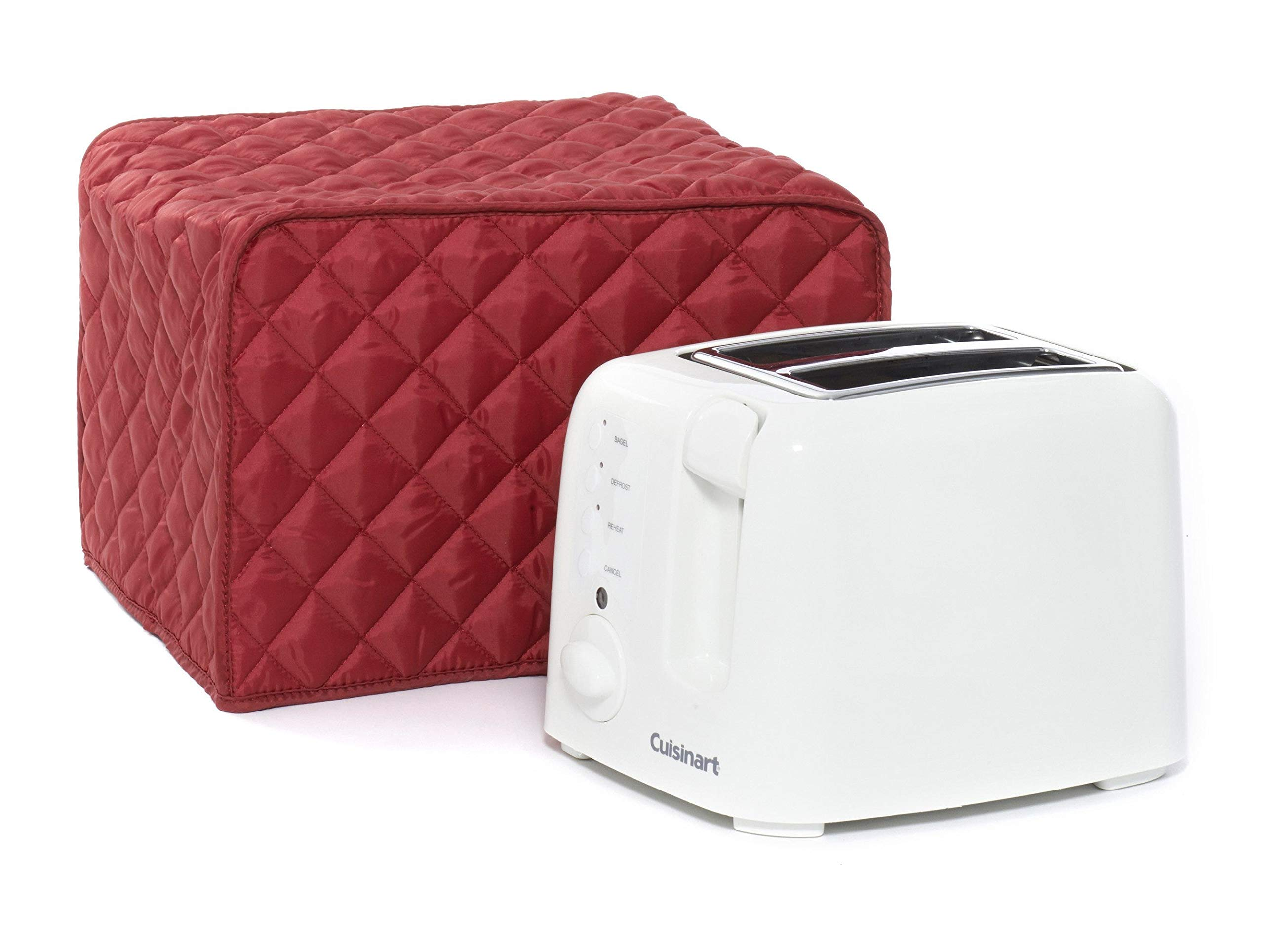 Covermates Keepsakes – Toaster Cover – Dust Protection - Stain Resistant - Washable – Appliance Cover - Red