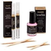 Bundle: Cuticle Oil Pen For Nails & Simply Peel Liquid Latex for Nails - Mess Free Mani & Pedi - Magique VitalePen & Magique SecondSkin