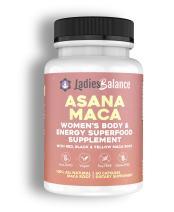 Asana Maca Organic Maca Root Made for Women ~ by LadiesBalance Black, Red & Yellow Maca Root Powder Blend