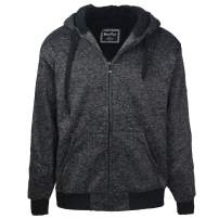 Leehanton Mens Hoodies Zip Up Sherpa Lined Heavyweight Workout Winter Sweatshirt Jackets