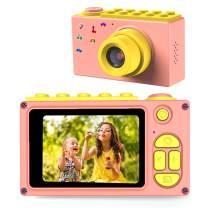 BlueFire Kids Digital Camera, Mini 2 Inch Screen Children's Camera, 8MP HD Child Camcorder, Best Digital Camera for Boys and Girls (Pink)