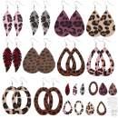 SUNNYCLUE DIY Make 10 Pairs Leopard Print Velvet Leaf Teardrop Dangle Earring Making Starter Kit Jewelry Making Supplies for Women Girls Beginners, Platinum