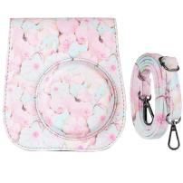 Katia Camera Case Bag Compatible for Fujifilm Instax Mini 11/9/ 8+/ 8 Instant Film Camera with Shoulder Strap and Photo Accessories Pocket - Candy
