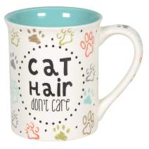 Enesco Our Name is Mud Cat Hair Don't Care Pets Coffee Mug, 16 Ounce, Multicolor