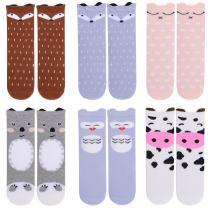 Gellwhu Baby Girls Socks Knee High Socks for Toddler Kids Boys Cute Animal Long Boot Socks