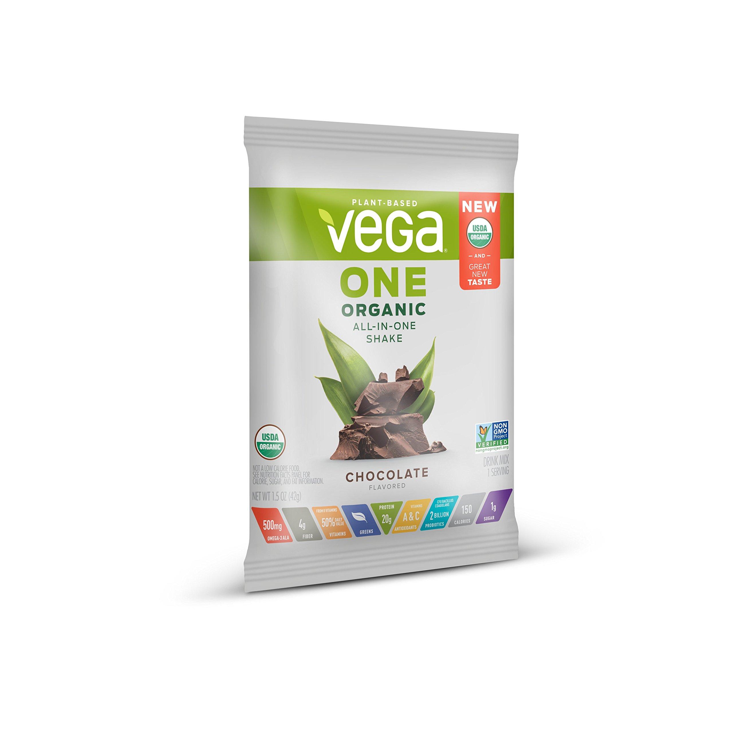 Vega One Organic Plant Protein Powder, Chocolate, 1.5 Ounce