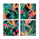 JAPO ART - Ripe Air of Summer Eva Watts by PI Creative Art Modern Print Plants Wall Pictures Vintage Giclee Print on Canvas Stretched for Living Room Bedroom 12 x 12 inch x 4 pcs