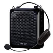 Voice Amplifier with Wireless Microphone Headset, 25W Echo Sound Bluetooth Mini Pa System Portable Voice Amplification, 4000mAh Rechargeable Mic Speaker for Teachers/Classroom/Speech/Outdoor etc Black