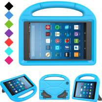 Kids Case for Fire HD 8 - TIRIN Light Weight Shock Proof Handle Kid-Proof Cover Kids Case for Amazon Fire HD 8 Tablet (7th and 8th Generation Tablet, 2017 and 2018 Release), Blue