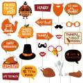 Friendsgiving Photo Booth Props Kit - Thanksgiving Party Photo Booth Props - Funny Friends Thanksgiving Feast Party Supplies - 25 Count