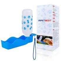 ANPETBEST Dog Water Bottle 325ML/11oz 650ML/22oz Portable Dispenser Travel Water Bottle Bowl for Dog Cat Small Animals (325ml/11oz, Blue)
