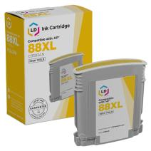 LD Remanufactured Ink Cartridge Replacement for HP 88XL C9393AN High Yield (Yellow)