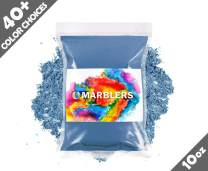 Marblers Powder Colorant 10oz (283g) [Deep Ocean] | Pearlescent Pigment | Tint | Pure Mica Powder for Resin | Dye | Non-Toxic | Great for Paint, Concrete, Epoxy, Soap, Nail Polish, Cosmetics