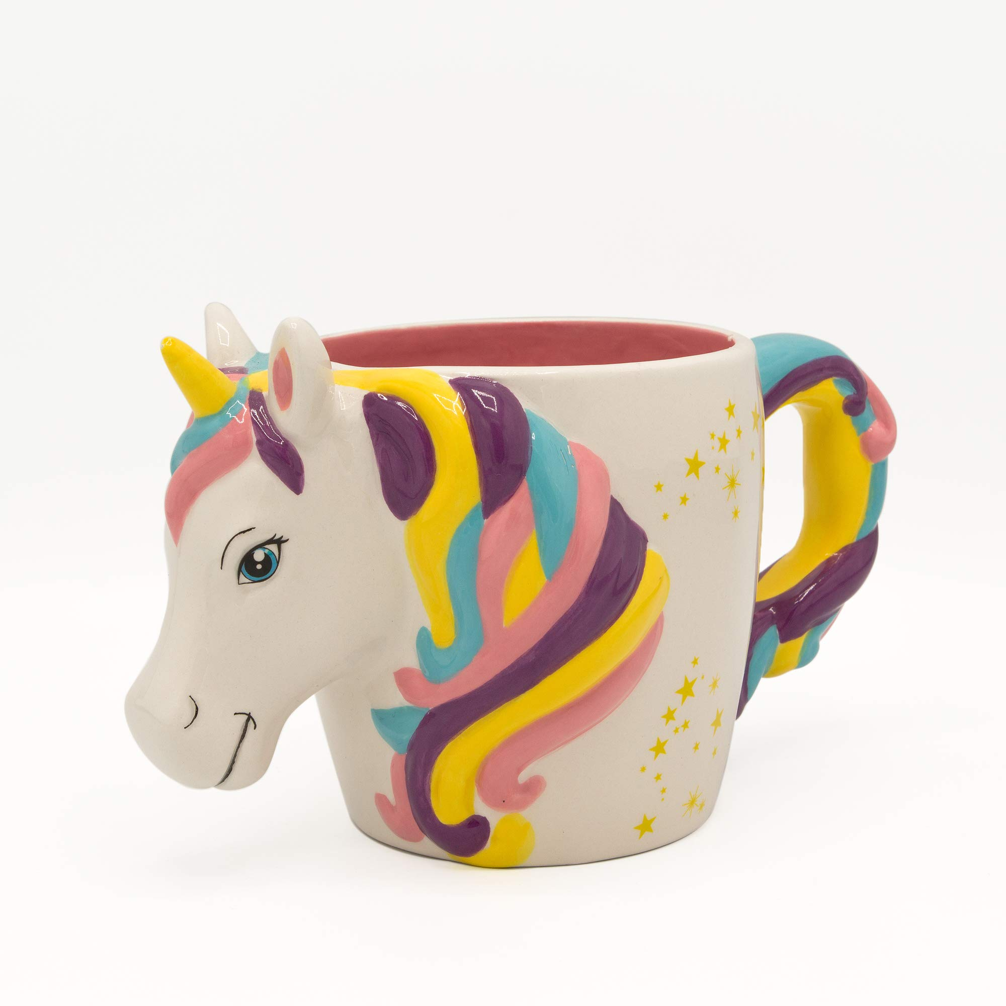 Silver Buffalo NL22553D Unicorn Shaped Ceramic 3D Sculpted Mug, 22-Ounce, Multicolored