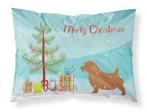 Caroline's Treasures BB2927PILLOWCASE Norfolk Terrier Merry Christmas Tree Fabric Standard Pillowcase, Standard, Multicolor