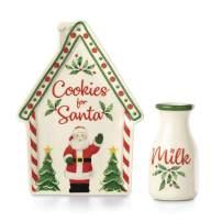 Lenox 886868 Holiday Cookie Plate & Milk Jug Set