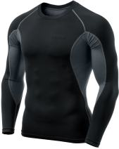 TSLA Men's Long Sleeve T-Shirt Cool Dry Compression Baselayer Top