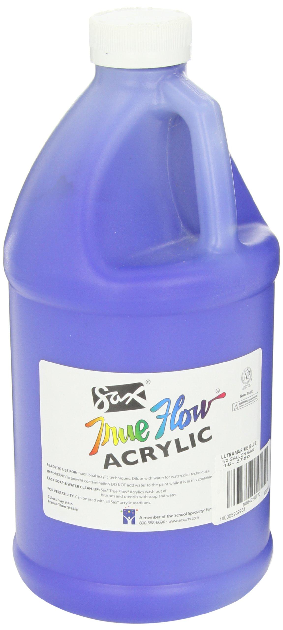 Sax True Flow Heavy Body Acrylic Paint, 1/2 Gallon, Ultramarine Blue - 439280