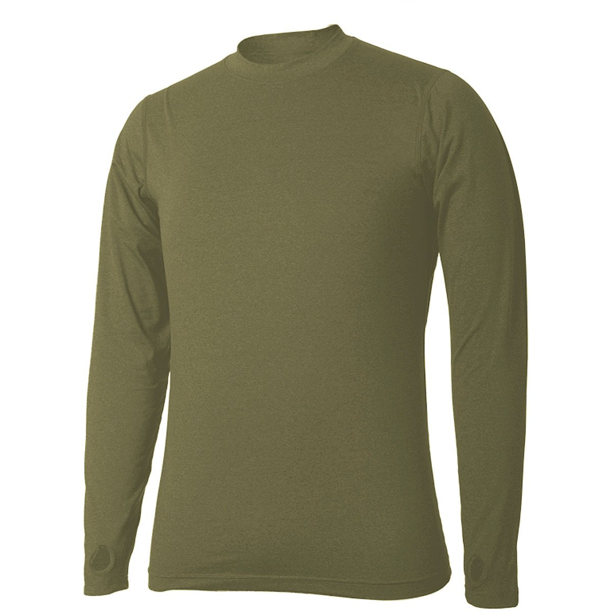Terramar Men's Thermolator Climasense 4-Way Stretch Brushed Crew Neck Top