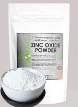 Zinc Oxide Powder by Sky Organics (16 oz) Uncoated Non-Nano Zinc Oxide Mineral Powder 100% Pure Zinc for DIY Sunscreen Lotions and Creams