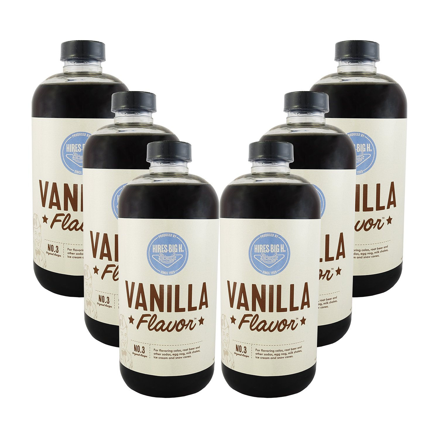 Hires Big H Vanilla Syrup, Great for Soda Flavoring 18 oz - 6 Pack