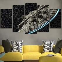 JESC Wall Decor Canvas Picture Star Poster 5 Pieces Art Home Framed HD Printed Canvas Painting (40x60cmx2,40x80cmx2,40x100cmx1) …
