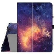 """Fintie Folio Case for New iPad 7th Generation 10.2 Inch 2019 - [Corner Protection] Premium Vegan Leather Smart Stand Back Cover with Pencil Holder, Auto Sleep/Wake for iPad 10.2"""" 2019, Galaxy"""