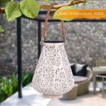 YUNLIGHTS Solar Lantern Hanging Solar Lights Outdoor Solar Powered Lanterns LED Lanterns 2PCS Decorative lamp for Garden/Patio/Hallway, Waterproof, 8-10h Working Time, Warm White, Pear Shape