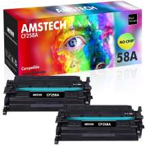 Amstech Compatible Toner Cartridge Replacement for HP 58A CF258A 58X Toner for HP Laserjet Pro M404n M404dn M404dw M428 HP Laserjet Pro MFP M428fdw M428fdn M404 Ink Printer NO Chip (Black, 2-Pack)
