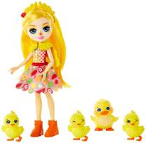 Enchantimals Family Toy Set, Dinah Duck Doll with Slosh & Family, Includes 6-inch Doll with 4 Duck Figures to Play Out Family Fun, Great Gift for 3-8 Year Olds  [Amazon Exclusive]