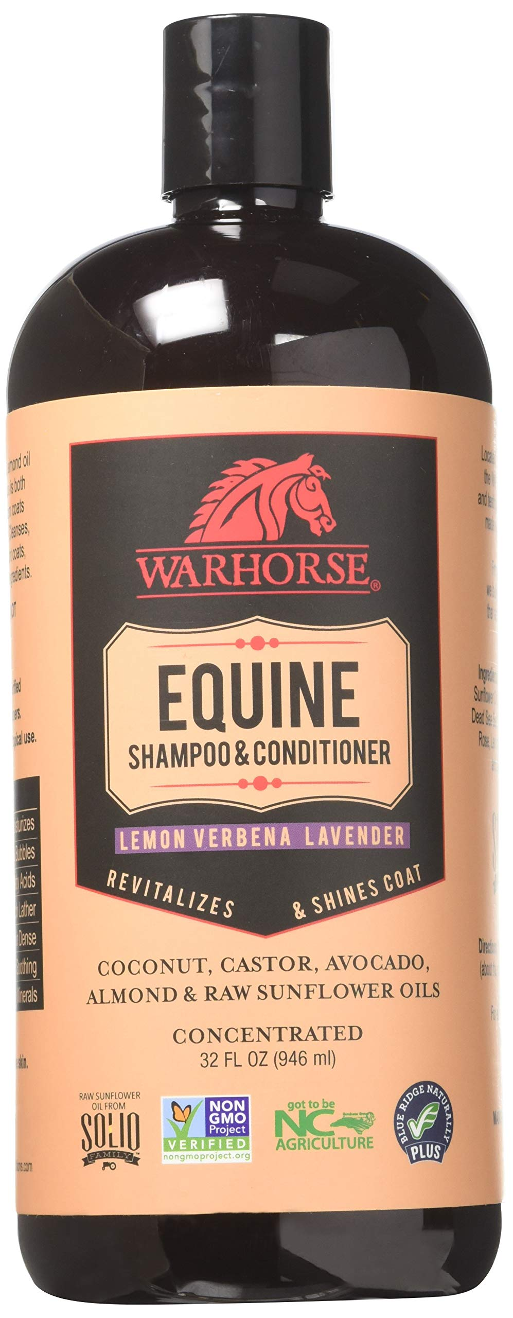 WARHORSE Solutions Natural Equine Horse Shampoo and Conditioner - Plant-Derived for a Deep, Gentle Clean