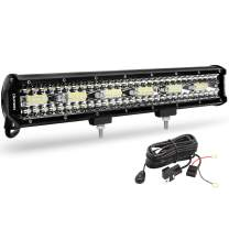 LED Light Bar OEDRO 17.72 Inch 468W 32760LM Tri-Rows Spot Flood Combo Led Lights Work Lights+Wiring Harness IP68 Grade Off Road Light 12V 24V Fit for Pickup Jeep SUV 4WD 4X4 ATV UTE Truck Tractor etc
