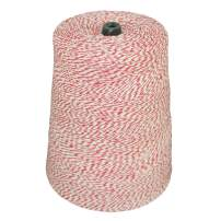 SGT KNOTS Cotton Bakers Twine - Polypropylene Blended Bakers Cord for Crafting, Kitchen & Workplace (2lb Cone, 10080ft, Red/White)