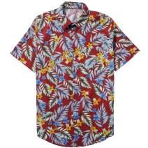 ZIOLOMA Men's Short Sleeve Tropical Pineapple Shirt Beach Hawaiian Shirt