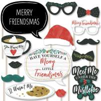 Big Dot of Happiness Rustic Merry Friendsmas - Friends Christmas Party Photo Booth Props Kit - 20 Count