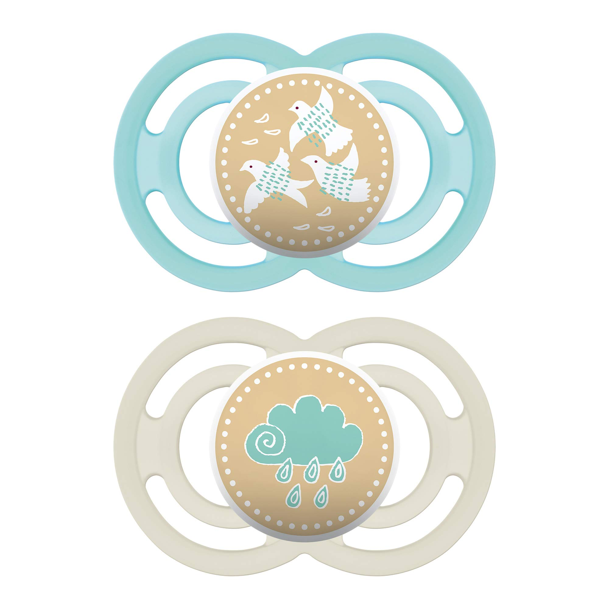 MAM Perfect Pacifiers, Orthodontic Pacifiers (2 pack) MAM Pacifiers 6-Plus Months, Best Pacifier for Breastfed Babies, Unisex Baby Pacifier