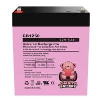 Chamberlain 4228 12v 5Ah Replacement Garage Door Opener SLA CB1250 by Charity Battery