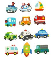 Happy Cherry Fridge Magnets for Toddlers Cute Car Vehicle Cartoon Cars Funky Magnetic Toys Colorful Magnetic Toys for Kids, Small
